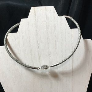 Kendra Scott Cooper Necklace with Platinum Druzy